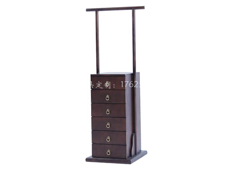 新中式实木边柜