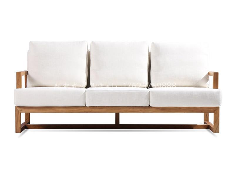 新中式三人沙发
