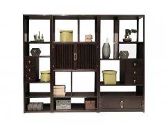 新中式实木书柜R-104