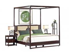 新中式实木架子床R-744
