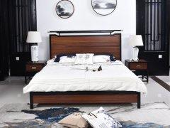 新中式床R-800