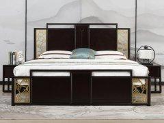 新中式床RJ-BL-801