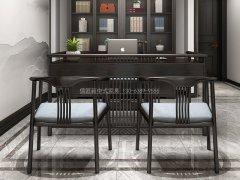 新中式书桌椅R-819