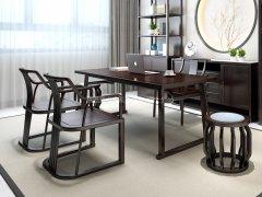新中式书桌椅R-821