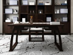 新中式书桌椅R-822