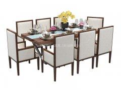 新中式餐桌椅R-841