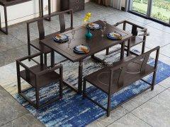 新中式餐桌椅组合R-842