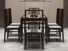 新中式餐桌椅组合R-843