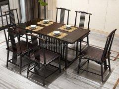 新中式餐桌椅组合R-846