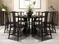 新中式餐桌椅组合R-847