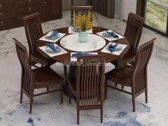 新中式餐桌椅组合R-853