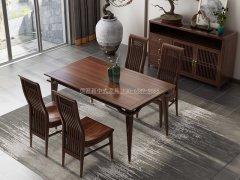新中式餐桌椅组合R-854