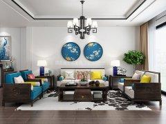 新中式沙发组合R-1174