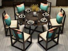 新中式餐桌椅R-1593