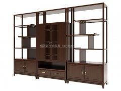 新中式书架R-1823