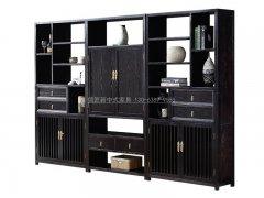 新中式书架R-1831