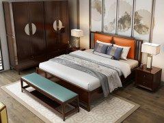 新中式卧室家具组合R-1982