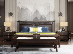 新中式卧室家具组合R-2001