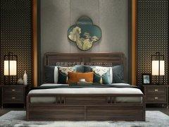新中式卧室家具组合R-2012