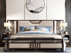 新中式卧室家具组合R-2033