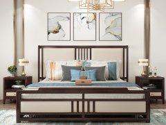 新中式卧室家具组合R-2034