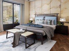 新中式卧室家具组合R-2060