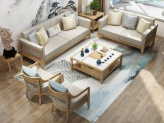 新中式沙发组合R-2268