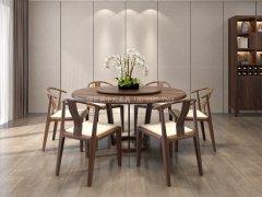 新中式餐桌椅JYG-CQS-2280
