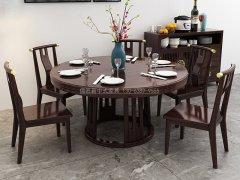 新中式餐桌椅JYG-CQS-2285